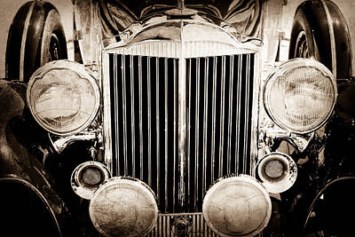 1933 Packard 12 Convertible Coupe Classic Car Print by Jill Reger