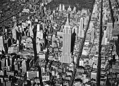 Empire State Photograph - 1934 Aerial View Of Manhattan by Underwood Archives