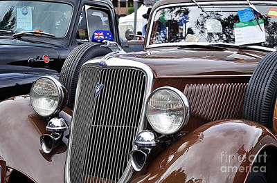 1934 Ford 6 Wheel Equip Front End Print by Kaye Menner