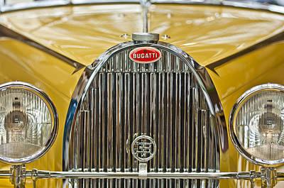 1935 Bugatti Type 57 Roadster Grille Print by Jill Reger
