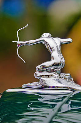 Archer Photograph - 1935 Pierce-arrow 845 Coupe Hood Ornament by Jill Reger