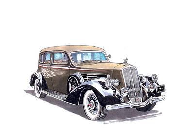 1935 Pierce Arrow V 12 Sedan Original by Jack Pumphrey
