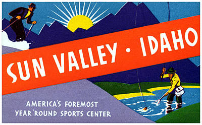 Winter Sports Painting - 1935 Sun Valley Idaho by Historic Image