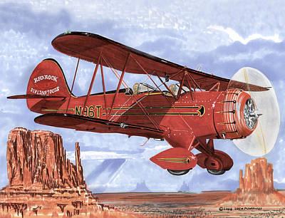 1935 Waco Sight Seeing Bi-plane Original by Jack Pumphrey