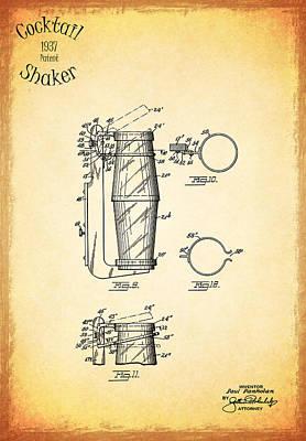1936 Cocktail Shaker Print by Mark Rogan