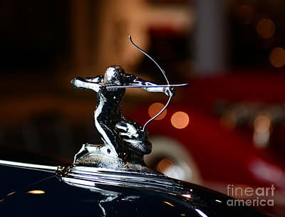1936 Pierce Arrow Hood Ornament Print by Paul Ward
