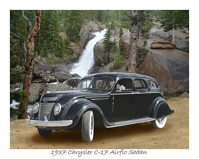 Designs With Photograph - 1937 Chrysler C-17 Airflow Eight Sedan by Jack Pumphrey