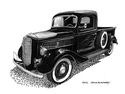 1937 Ford Pick Up Truck Print by Jack Pumphrey