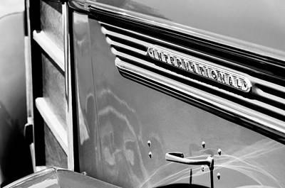 1937 International D-2 Station Wagon Side Emblem Print by Jill Reger