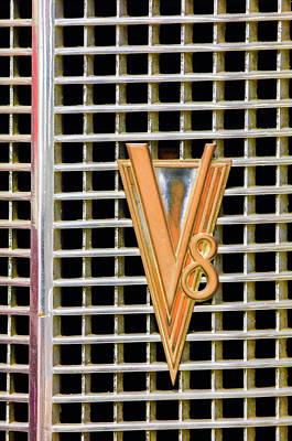 1937 Lasalle V8 Emblem Print by Jill Reger