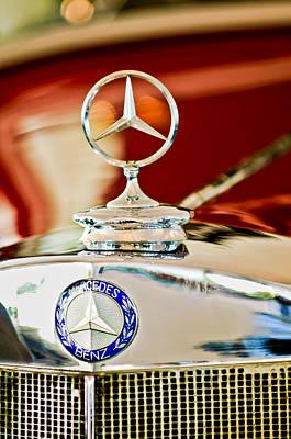 1937 Mercedes-benz Cabriolet Hood Ornament Print by Jill Reger