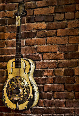 Guitar Photograph - 1937 Metal Resonator by Heather Applegate