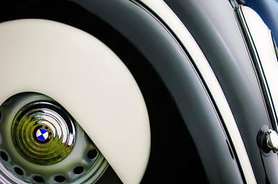 1938 Photograph - 1938 Bmw 327 - 8 Cabriolet Rear Wheel Emblem -2668c by Jill Reger