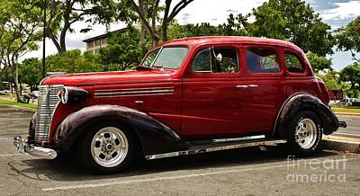 Chevrolet Master Photograph - 1938 Chevy 4 Door Sedan by Craig Wood