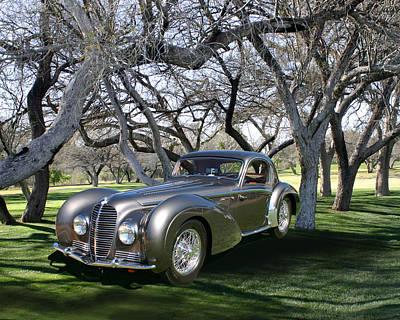 1938 Delahaye 145 Coupe At Tubac Resort Print by Jack Pumphrey