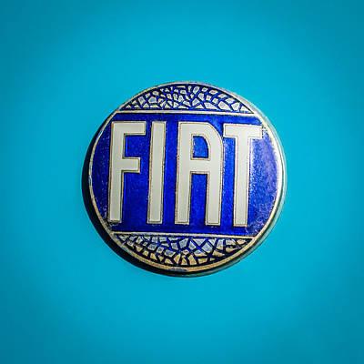 1938 Photograph - 1938 Fiat 508c Berlinetta Speciale Emblem by Jill Reger