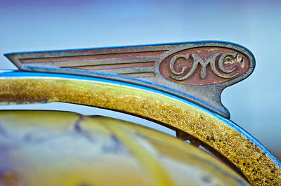 1938 Gmc Hood Ornament Print by Jill Reger