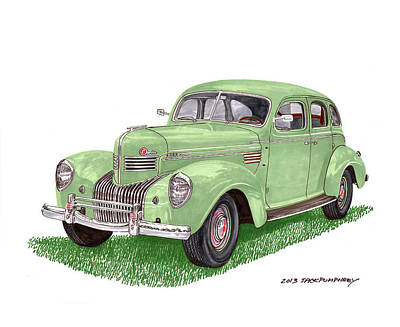 Adjectives Painting - 1939 Chrysler Imperial by Jack Pumphrey