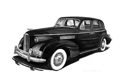 Companion Drawing - 1939 Lasalle Sedan by Jack Pumphrey