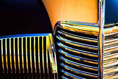 Stylized Photograph - 1939 Studebaker Champion Grille by Carol Leigh