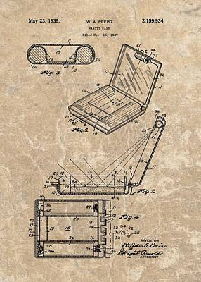 Diamond Engagement Ring Drawing - 1939 Vanity Case Patent by Dan Sproul