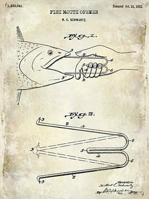 Cape Cod Photograph - 1940 Boning Fish Patent Drawing  by Jon Neidert