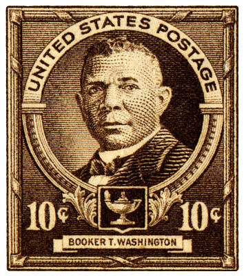 Black History Painting - 1940 Booker T. Washington Stamp by Historic Image