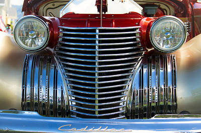Grils Photograph - 1940 Cadillac Coupe Front View by Eti Reid