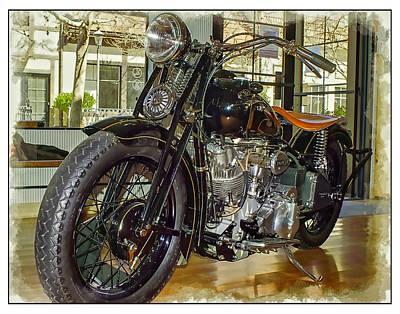 Oldzero Photograph - 1940 Crocker Motorcycle by Steve Benefiel