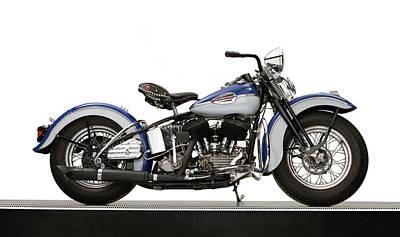 Harley Davidson Photograph - 1940 Harley Davidson 74ci Model U by Panoramic Images