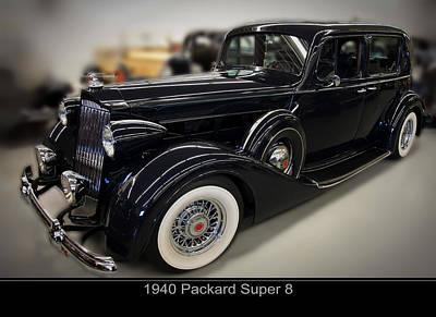 1940 Packard Super 8 Print by Chris Flees