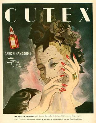 1940s Usa Cutex Magazine Advert Print by The Advertising Archives