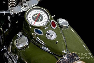 1942 Harley Davidson Instrument Panel Print by Barbara McMahon