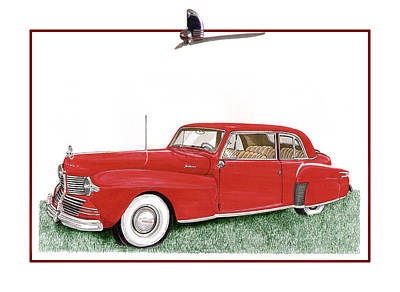 Then Painting - 1942 Lincoln Continental Coupe by Jack Pumphrey