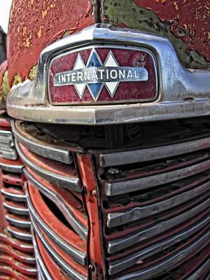 1946 International Harvester Truck Grill Print by Daniel Hagerman