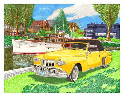 1946 Mk I Lincoln Continental Print by Jack Pumphrey