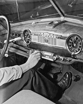 1947 Chevrolet Dashboard Print by E. Earl Curtis