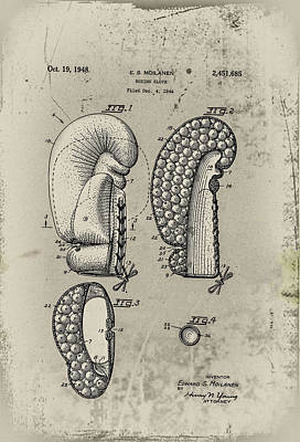 Boxing Gloves Digital Art - 1948 Boxing Glove Patent by Digital Reproductions