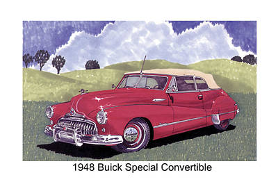 Buick Painting - 1948 Buick Special Convertible by Jack Pumphrey