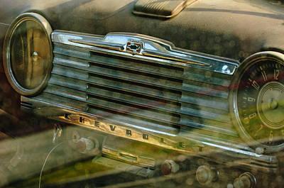 1948 Photograph - 1948 Chevrolet Dashboard  by Jill Reger