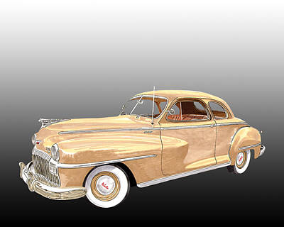 Road Rod Painting - 1948 De Soto Club Coupe by Jack Pumphrey