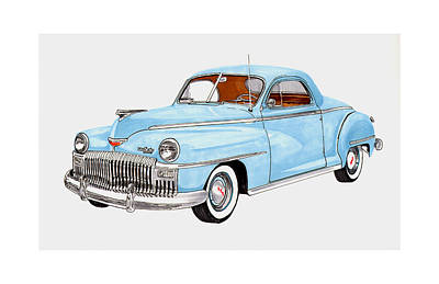 Street Rod Drawing - 1948 Desoto Business Coupe by Jack Pumphrey
