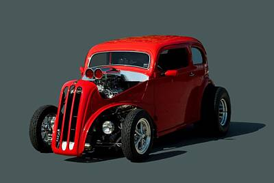 1948 English Ford Anglia Dragster Print by Tim McCullough