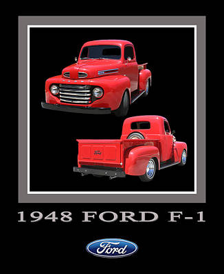 Custom Ford Photograph - 1948 Ford F 1 Poster by Jack Pumphrey