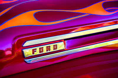 48 Photograph - 1948 Ford Pickup by Carol Leigh