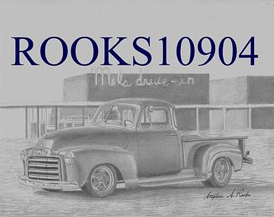 1948 Gmc Pickup Truck Art Print Original by Stephen Rooks