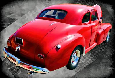 Car Photograph - 1948 Series 2100 Fk Fleetmaster Gangster Red On Asphalt by Lesa Fine