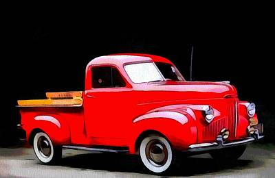 Truck Mixed Media - 1948 Studebaker Truck by Dan Sproul