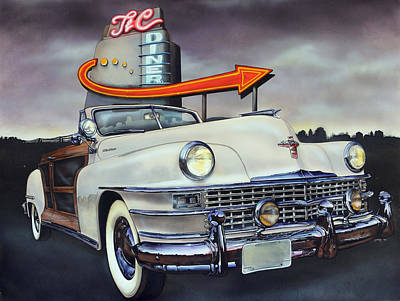 Classic Car Painting - 1949 Chrysler Town And Country Convertible by Bill Yurcich