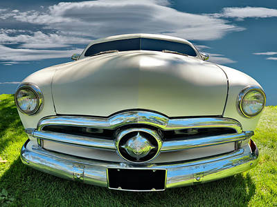 Classic Auto Photograph - 1949 Ford Club Coupe by Leland D Howard